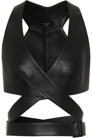 Alaïa Bustier-Top aus Leder