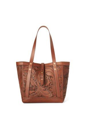 RRL Handgearbeitete Ledertragetasche