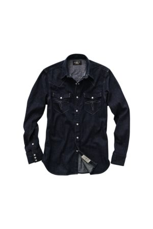 RRL Slim-Fit Westernhemd aus Denim
