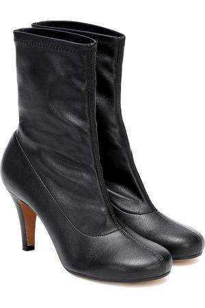 Maison Margiela Damen Stiefeletten - Ankle Boots aus Lederimitat