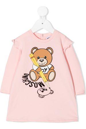Moschino Kids Sweatshirtkleid mit Teddy