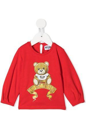 Moschino Kids Longsleeves - Langarmshirt mit Teddymotiv