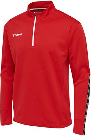 Hummel Sweatshirts - HmlAUTHENTIC KIDS HALF ZIP SWEATSHIRT, TRUE RED, 116