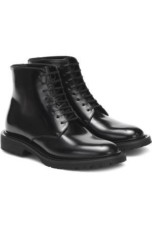 Saint Laurent Ankle Boots Army aus Leder