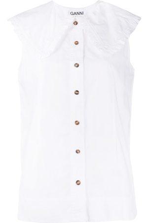 Ganni Bluse aus Bio-Baumwolle