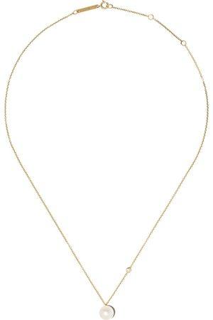 Zoe Chicco 14kt Gelbgoldhalskette mit Perle und einem Diamanten