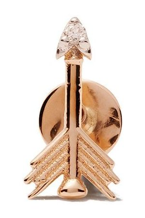 Milka 14kt Rotgoldohrstecker mit Diamanten