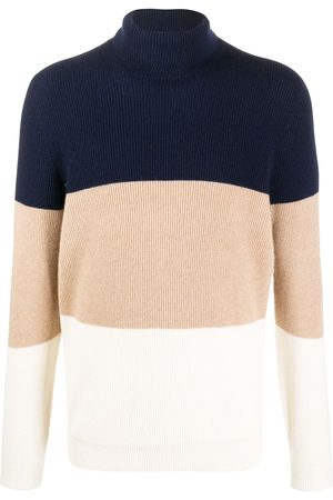 Brunello Cucinelli Rollkragenpullover in Colour-Block-Optik