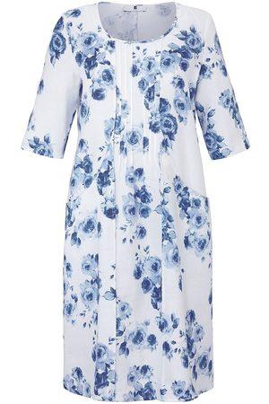 Anna Aura Kleid 3/4-Arm aus 100% Leinen mehrfarbig