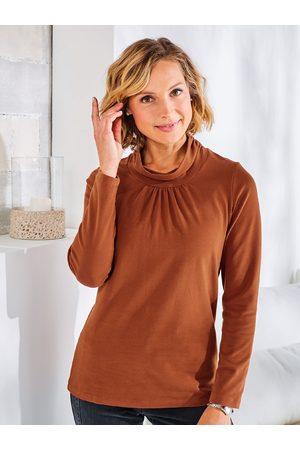 Avena Noch offen: Marke Damen Wohlfühl-Thermo-Shirt Rollkragen