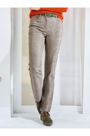 Avena Noch offen: Marke Damen Dehnbundhose Baumwoll-Stretch