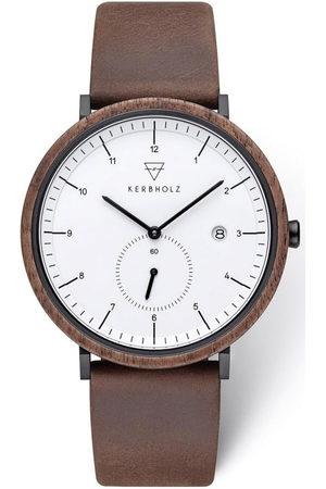 Kerbholz Uhr 'Anton Walnut