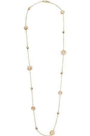 David Morris Damen Halsketten - 18kt Rotgoldhalskette mit Diamanten