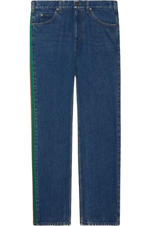 Gucci Gerade Jeans mit Seitenstreifen