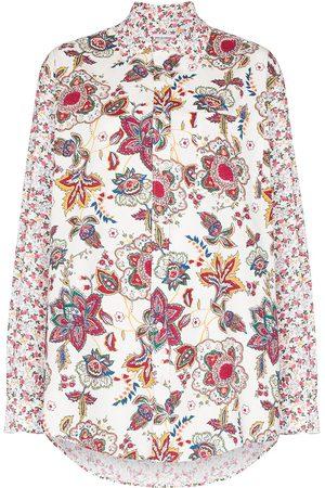 Marine Serre Damen Blusen - Hemd mit Blumen-Print