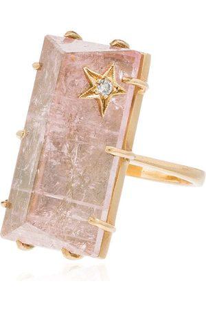 Andrea Fohrman 18kt Gelbgoldring mit Diamanten