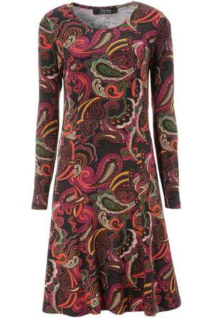 Aniston Damen Freizeitkleider - Jerseykleid Paisley-Druck in satten Farben