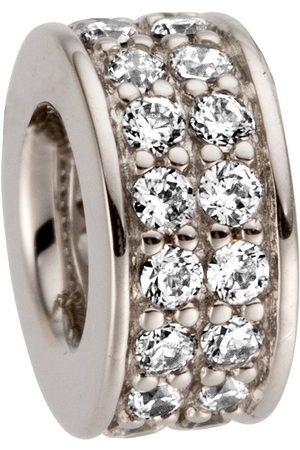 Jobo Uhren - Kettenanhänger, 585 Weiß mit 32 Diamanten