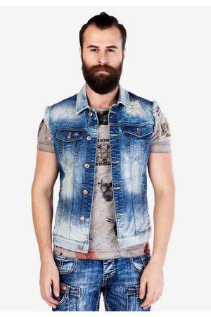 Cipo & Baxx Jeansweste im modischen Used-Look