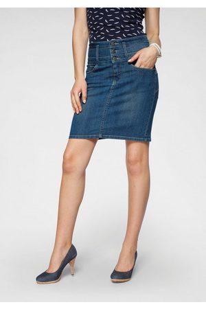 ARIZONA Damen High Waist Jeans - Jeansrock »mit extra breitem Bund« High Waist