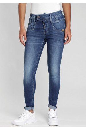 Gang Damen Skinny - Skinny-fit-Jeans »Marge« mit besonderem 4-Knopf-Verschluss