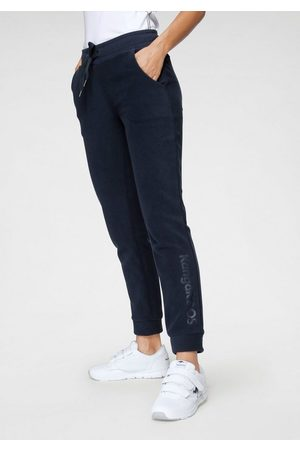 KangaROOS Damen Stoffhosen - Fleecehose mit Eingrifftaschen und Tunnelzug