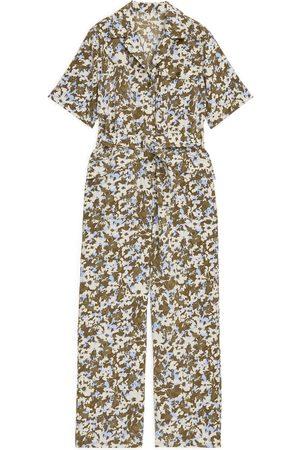 ARKET Belted Floral Jumpsuit