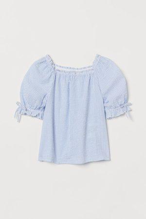 H&M Seersucker-Bluse