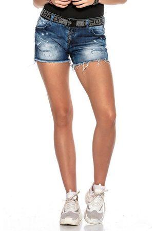 Cipo & Baxx Shorts mit Pailletten-Bund