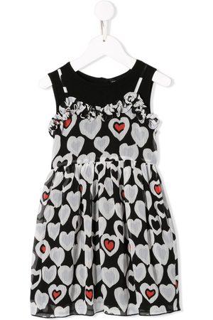 Emporio Armani Ausgestelltes Kleid mit Herz-Print