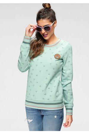 Ocean Sweatshirt mit Lederimitatbadge
