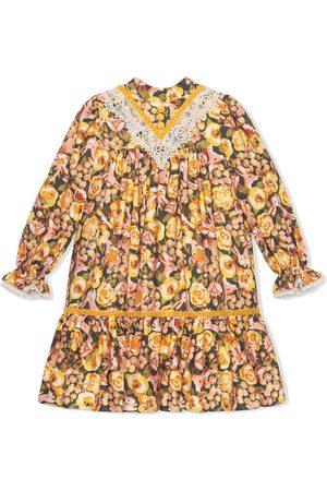 Gucci Geblümtes Kleid mit Kaninchen-Print