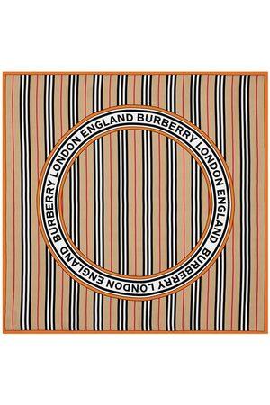 Burberry Gestreifter Schal mit Logo
