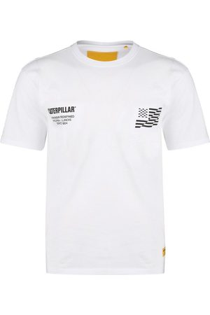 Caterpillar T-Shirt » B-w Flag«