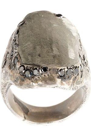TOBIAS WISTISEN Silberring mit schwarzem Diamanten