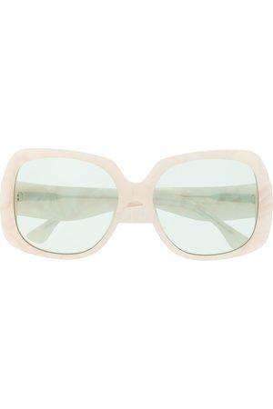 George Keburia Eckige Oversized-Sonnenbrille