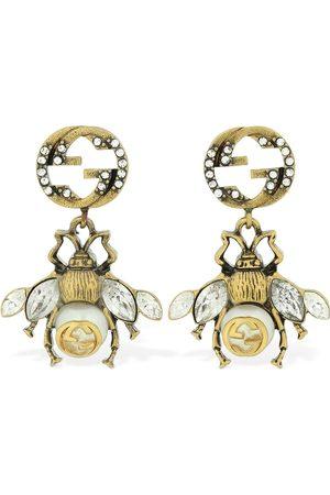 Gucci Damen Ohrringe - Ohrringe Mit Bienenmotiv Und Kristallverzierung