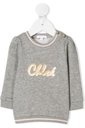 Chloé Kids Pullover mit Logo-Print