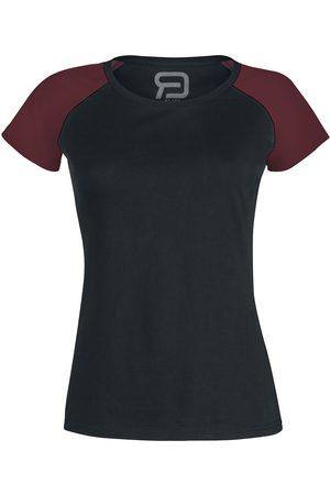 RED by EMP Damen T-Shirts, Polos & Longsleeves - Short Raglan Road T-Shirt /bordeaux