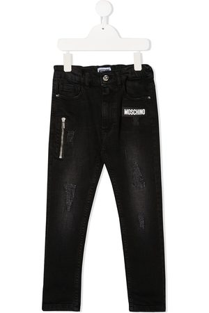 Moschino Skinny-Jeans in Distressed-Optik