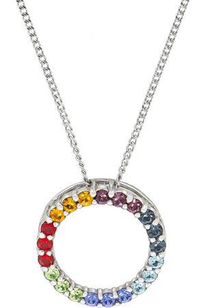 Firetti Kette mit Anhänger 'Kreis & Regenbogenfarben