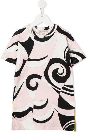 Emilio Pucci Junior Kleid mit abstraktem Print