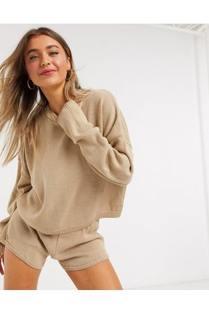 In The Style X Lorna Luxe – Lola – Strickpullover in Stone, Kombiteil