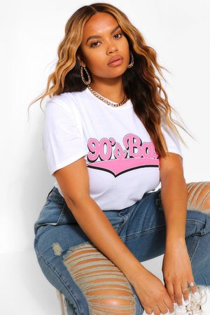 "Boohoo Womens Plus T-Shirt Mit ""90'S Baby""-Print - - 42"