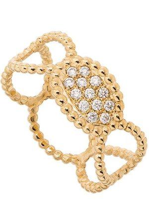 KIMAI 18kt 'Ray' Gelbgoldring mit Diamanten