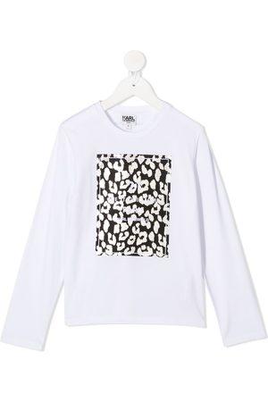Karl Lagerfeld Kids Mädchen Longsleeves - Langarmshirt mit Logo