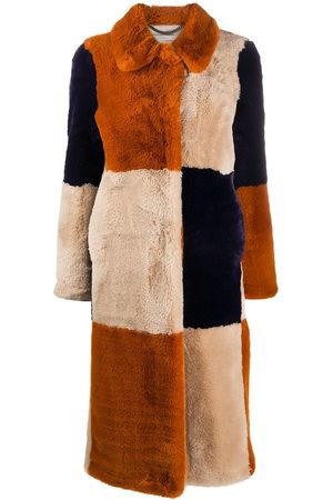 Stella McCartney Damen Mäntel - Fur Free Fur' Mantel mit Einsätzen