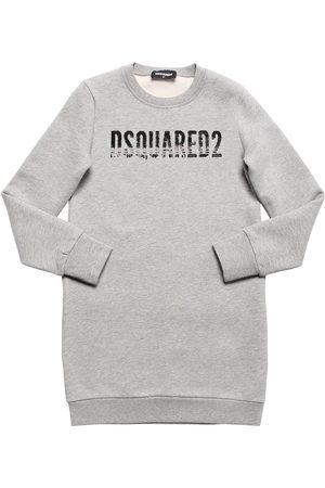 Dsquared2 Sweatshirtkleid Aus Baumwolle Mit Paillettenlogo