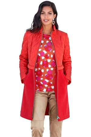 AMY VERMONT Langjacke im Material-Mix