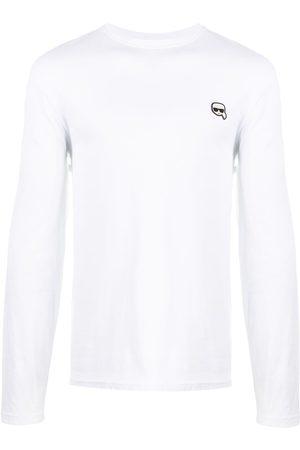 "Karl Lagerfeld T-Shirt mit ""Ikonik""-Patch"